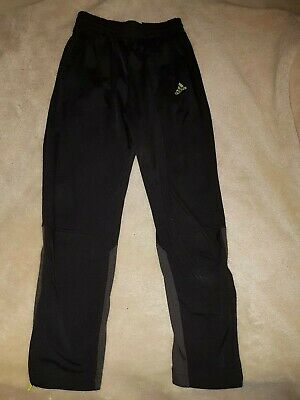 Boys Black Adidas Joggers Jogging Tracksuit Bottoms Aged 9-10 Years