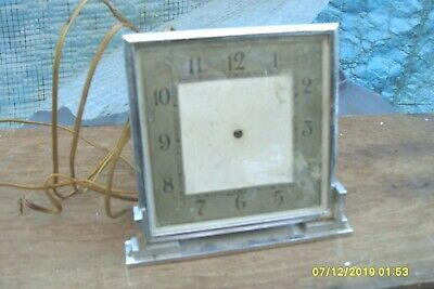 Clock Parts Art Deco  Clock Untested Electric Spare To  Repair
