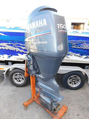 """Pair Of 2004 Yamaha 150 Hp 4 Stroke 25"""" Shaft Outboards"""
