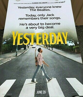"""Yesterday 2019 Double Sided Original Movie Poster 27"""" x 40"""""""