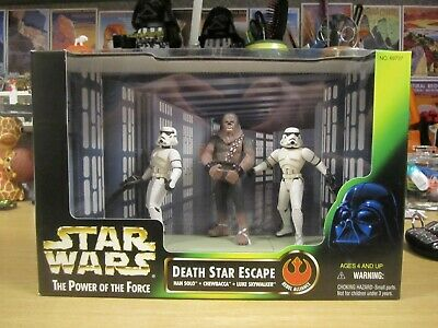 Hasbro Star Wars Power of the Force Death Star Escape Movie Scene Boxed Set