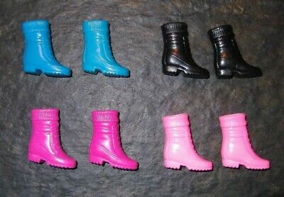 "BARBIE DOLL SHOES v5 - 4 PAIRS of BOOTS w/ ""SOCK"" TOP"