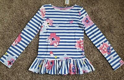 NWT Joules Harbour Luxe Girls Long Sleeve Shirt child size 11-12. **US Seller**