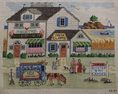 Summer Season Oyster Bay Cruises Ice Cream Cross Stitch Completed Finished