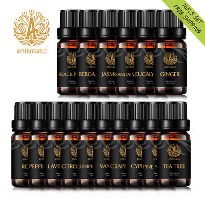 APHROSMILE 100% Pure & Natural OrganicEssential Oil 16pcs Set For Aromatherapy