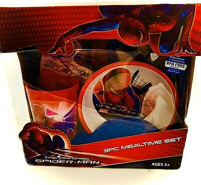 Spiderman Meal Time Set  Plate/ Tumbler / Bowl. New In Box Never Used . Marvel