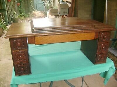 """""""SINGER"""" SEWING MACHINE WOODEN TABLE TOP,with DRAWERS ,CRADLES & CADY DRAWER"""