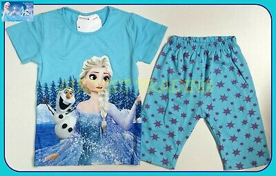BNWT Frozen Elsa new top t-shirt Pyjamas tshirt cotton girls pajamas sleepwear