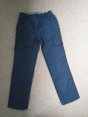 Boys Fat Face navy blue trousers jeans age 9