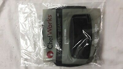 Chef Works Cool Vent Chef Beanie, Black, One Size Fits Most. New
