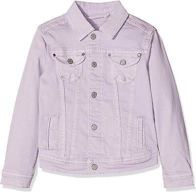Pepe Jeans Girl's New Berry Jacket, Washed Lilac 424, 15-16 Size: 16 Years