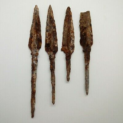 Iron Arrowhead 4pc. / Arrows  600-100BC. Scythians Celtic