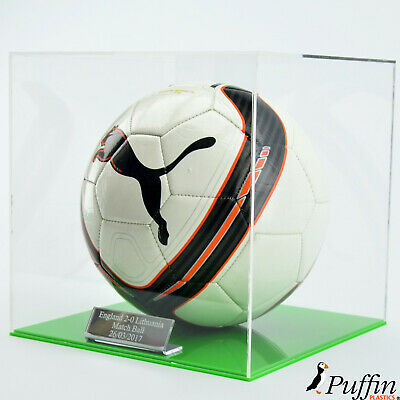 Perspex Football Display Cases (Colour Base)