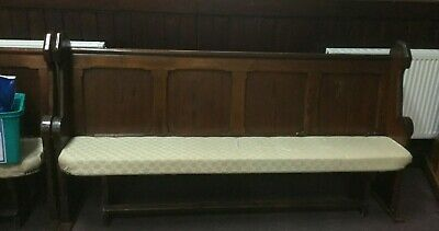 Vintage pitch pine church pew in excellent condition