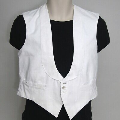 """Vintage 1950s White Waistcoat 36"""" Chest. Anderson & Sheppard Savile Row"""