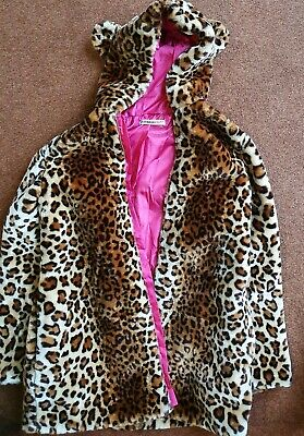 Freespirit Leopard Fur Coat Girls Age 15 To 16 with Ears New BNWT Faux Fake