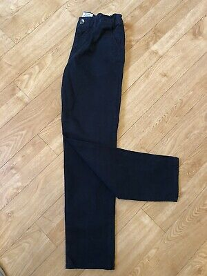 H&M Boys Navy Slim Stretch Fit Chino Trousers Age 11 - 12