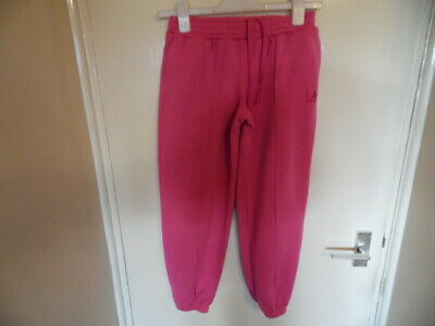 Girls Pink joggers with pockets elasticated tie waist and ankles size 11-12 yrs