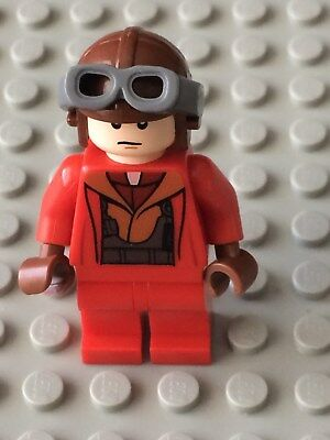 LEGO Star Wars Mini Figure Naboo Fighter Pilot Red Jumpsuit 7877 SW340 R463