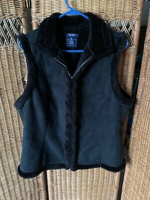 Women/'s Chaps SPORT Hooded Vests Navy Sizes M L NWT
