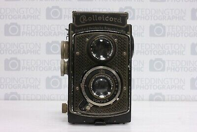 Rolleicord 1 Nickel Plated Art Deco Styling + Case
