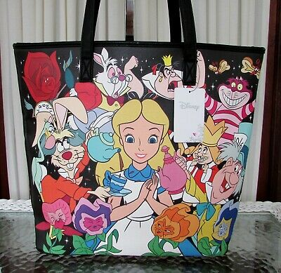 Disney Loungefly Alice in Wonderland Tote Purse Bag Cheshire Cat,Queen NWT
