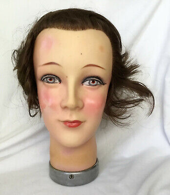 Vintage Early 1960s Mannequin Head Signed AK Made in Germany