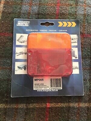 Spare Square Replacement Rear Light Lamp Lens Cover Towing Trailer For Mp003