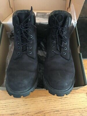 Timberland Black Leather Nubuck Premium 6 Inch Classic Boots Shoes  Men's
