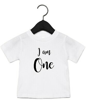 Kids Childrens Birthday I Am T-Shirt Boys Girls Party Gift Tee Top Ages 1