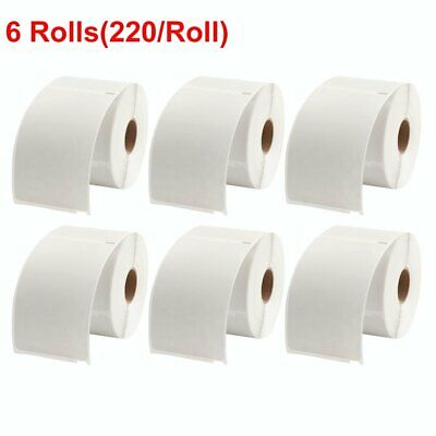 6 Rolls 4x6 Thermal Shipping Label 220/Roll Dymo 4XL 1744907 Compatible UPS USPS
