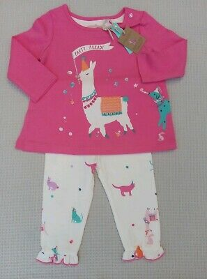 BNWT JOULES BABY GIRLS STRAWBERRY 2 PIECE OUTFIT SET AGE 3-6 OR 6-9 MONTHS.