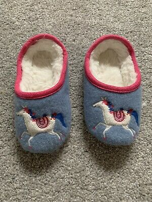 Joules Girls Slippers Kids 8-9 XS
