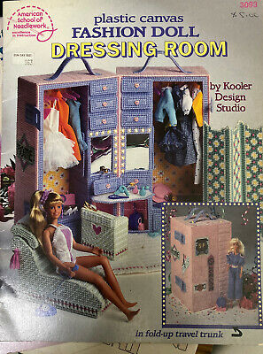 Barbie Little Sister Bedroom Stacie Plastic Canvas PATTERN//INSTRUCTIONS NEW