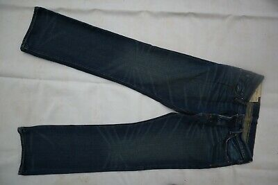 Blue ABERCROMBIE & FITCH Baxter Buttonfly Low Rise Slim Boot Jeans 31 x 32