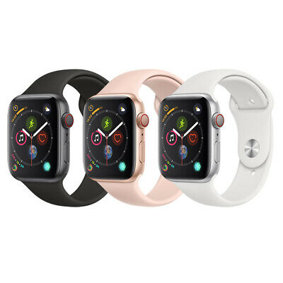 NEW Apple Watch Series 4 44mm 40mm   GPS & LTE   Aluminum Case & Silicone Band!