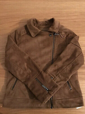Zara Girls Brown Suede Jacket Size 7