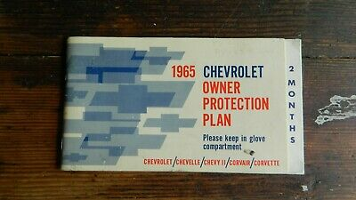 Chevrolet 1965 Owner Protection Plan Chevelle/Chevy Ii/Corvair/Corvette