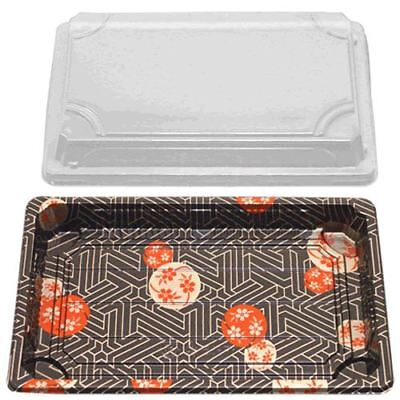 Sushi Container w/Lid (8.5x5.3x0.67) (500 Sets)