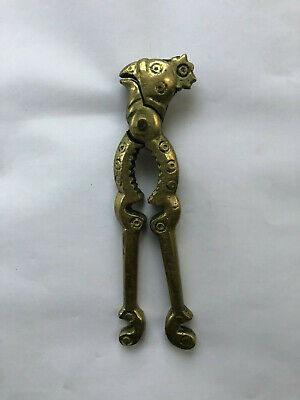 ANTIQUE BRASS ROOSTER  NUTCRACKER 18th - 19th c. Original Authentic