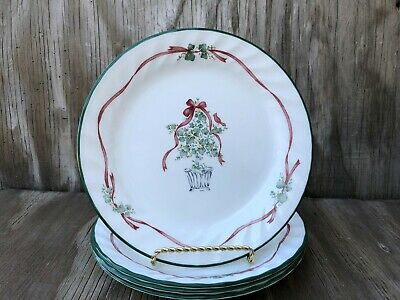 Corelle Dishes Callaway Holiday Small Salad Or Dessert Plates Set Of 4