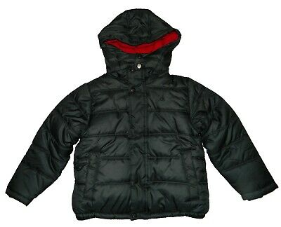 Calvin Klein Jeans Boy's Puffer Jacket Removable Hood Dark Grey Size L 5/6 Years