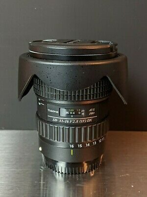Tokina AT-X PRO 11-16mm f/2.8 Pro DX Lens w/ Hood, Caps, and UV Filter (Canon)