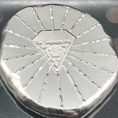 9 Fine Mint 1/2 Oz All Seeing Eye 999 Fine Silver Bullion Cast Collector Bar #14