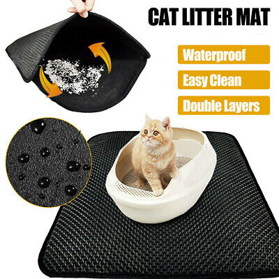 Double Layer Cat Litter Mat Trapper Waterproof Foldable Pad Pet Rug Honeycomb AU