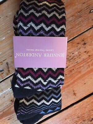6 pairs of Jennifer anderton thermal boot Socks uk4//8 brand new