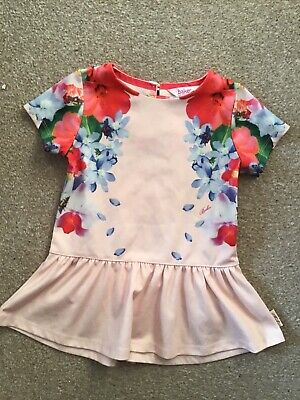TED BAKER beautiful girls floral tunic top - age 4-5