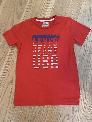 Levis Red Boys T Shirt Top Age 12 Years