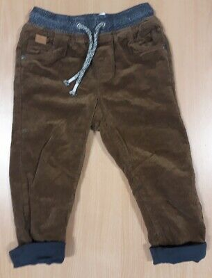 Boy's Next brown corduroy turn-up jeans  -  for 2 - 3 years