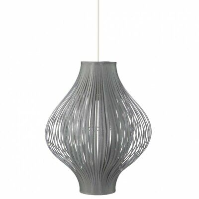 "Lampe Suspension Pliante ""Yisa"" 44cm Gris"